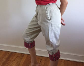 Vintage LL Bean Flannel Lined Khakis