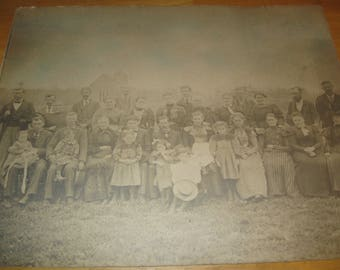 Old Photo and Wood Frame Turn of the 20th Century