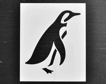 Penguin Stencil - Reusable DIY Craft Stencils of a Penguin