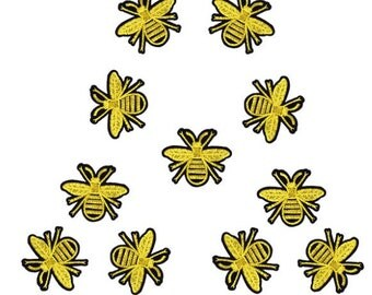 10PCS/LOT mini Bee patch Embroidery iron on sew on patch Decoration Accessories Embroidered patch  no.192