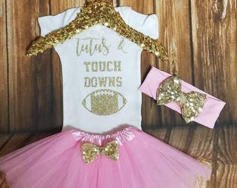 Baby Girl Football outfit Girl Football Onesie Girl Football Shirt Baby Girl Superbowl Onesie Toddler  Football Shirt Tutus Touch Downs