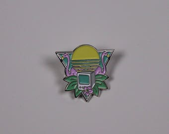Flamingo Sunrise Enamel Pin