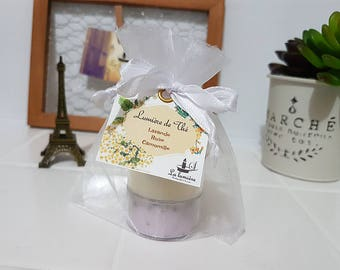 Soy tea light candle/ natural soy candle/ botanical candle/herb candle/3 pieces set/ ソイティーライトキャンドル/ ボタニカルティーライトキャンドル