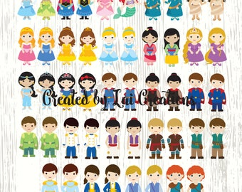 Disney Prince & Princess Cliparts