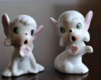 Sweet Little Lambs - Vintage Salt and Pepper Shakers