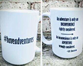 G.K. Chesterton on Adventures Mug