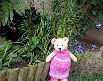 Bear girl knitted