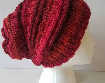 Shades of Red Slouchy Hat