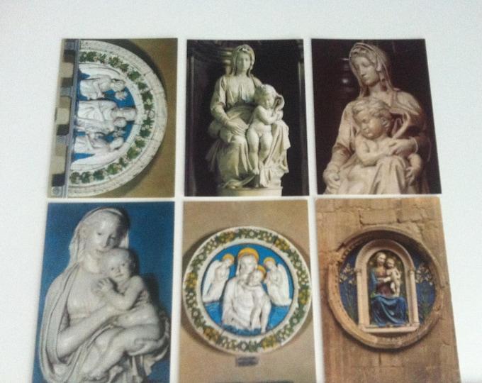 Vintage 6 pieces Postcards Religion Madonna Maria Church Postcard Photo