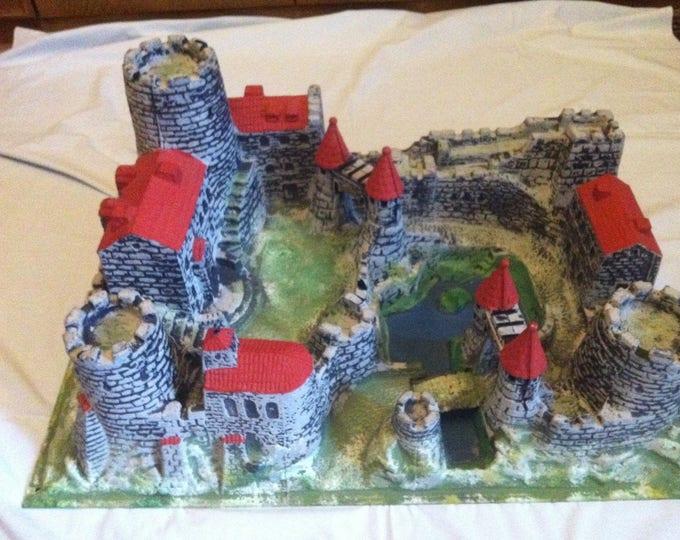 Vintage German Knights Castle Elastolin / Lineol Figures