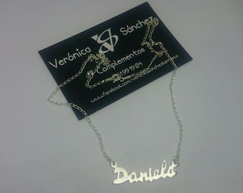 Silver name, silver choker, silver name, silver chain, your name, silver