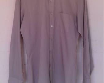 Men's grey/beige vintage shirt by Primary - size s/m