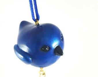 Bluebird Christmas Ornament, Bird Ornament, Blue Ornament, Woodland Creatures, Nature Lover Gift, Rustic Christmas, Animal Ornament