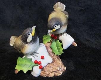 "Christmas ""Chickadees"" Andrea by Sadek 6726 1983"