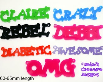 Laser cut Acrylic Names/Words