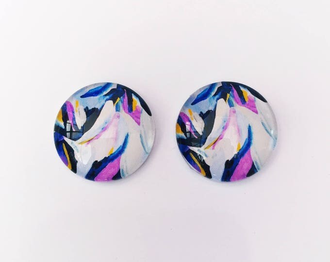 The 'Charlie' Glass Earring Studs