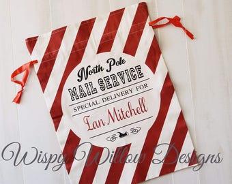 Santa Sacks, Santa Bag, Santa Sack, Santa Bags, Christmas Bag, Canvas Bag, Personalized Christmas, Santa Name Bag, Present Bag, Personalized