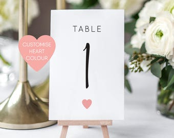 Printable Table Numbers/ Wedding Table Numbers/ Wedding Printable/ PDF/ Download/ Custom/ Elizabeth suite #049-18
