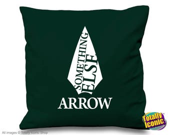 """Arrow - TV Series Inspired Cushion/Pillow Cover - Oliver Queen - """"Something Else"""" Comic Book Hero"""