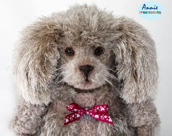 Puppy Poodle, Knitted Poodle, Knitted Puppy, Puppy, Poodle, Interior toy