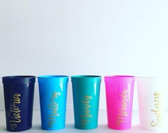 Personalized 22 oz Stadium Cups, Bach Bash, Engagement, Bachelorette, Party Cups, Congrats Cups, Graduation, Pool Party Cups