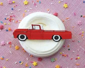 Vintage 1960 Ford F100 Pickup Truck Brooch or Magnet / Pin / Pinup / 1950s / Vintage / Rockabilly / Retro / Car