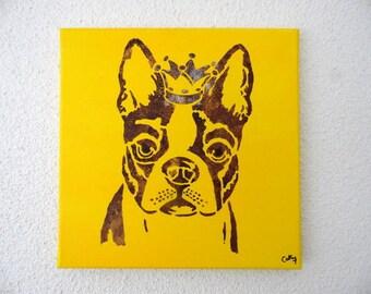 Funky Bulldog Portrait Tableau