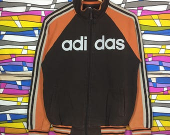 Rare!! Vintage ADIDAS Big Logo Spellout Sweater Large Size