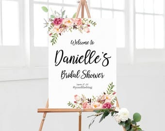 Bridal Shower sign, Bridal Shower Welcome Sign, Bridal Shower decoration, welcome wedding sign, Bridal shower banner, Shower sign
