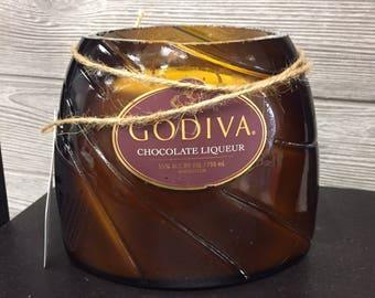 Godiva liqueur bottle - vanilla hazelnut soy candle