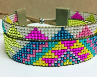 Bright Native American Inspired Beaded Bracelet
