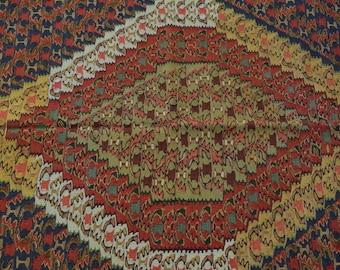 Beautiful persian Labjar Senneh kilim 100% wool vintage kilim tribal kilim