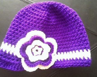 Hat with Brim and Flower