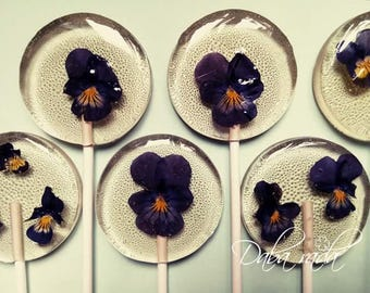 Wedding Favor Flower Lollipop 5 set