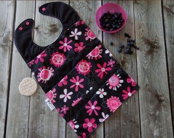 Flowers Waterproof bib, Baby Accessory , Baby Shower gift, Oversize bib, No mess bib