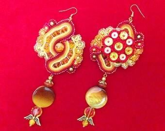 Phoenix - Soutache Earrings
