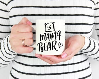 Mama Bear // Coffee Mug // Mom Coffee Mug //