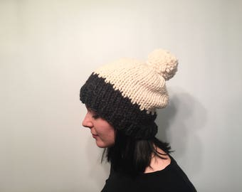 ON SALE, Women's Slouchy Knit Beanie, Wool Knit Winter Hat
