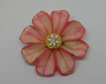Pink Origami Daisy Accessory