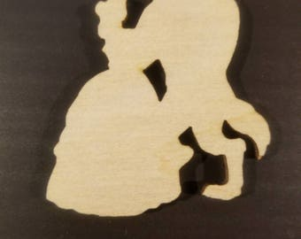 50 Laser Cut Beauty and the Beast - Wood Belle and Beast Cutouts - Crafting Supplies