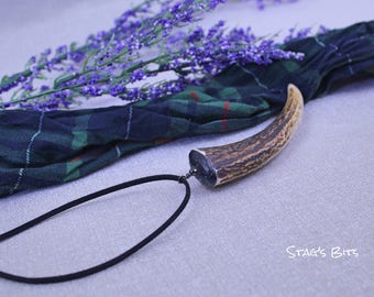 Naturally Cast Antler Pendant Necklace