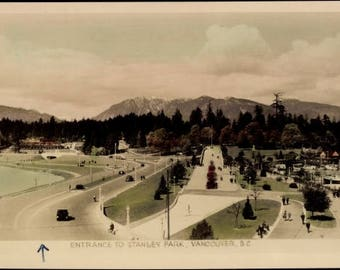 MINT 1930s STANLEY PARK, Vancouver, British Columbia, Glossy Real Photo Postcard
