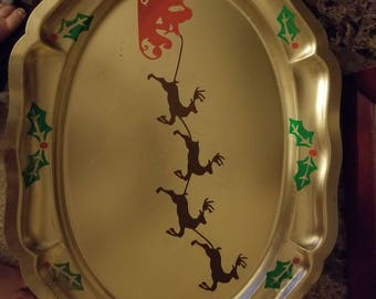 Santa Decorative Christmas Platter