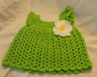Crochet Dress  for a 9 - 12 month or top for a 1 to 2 year old