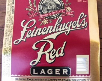Beer Labels - Leinenkugel's Red Lager