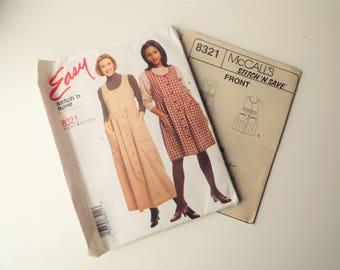 McCalls 8321 Dress Pattern - 8-10-12-14