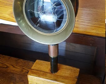 Handmade Carriage Light with solid old Oak base