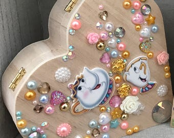 Mrs Potts and Chip (Beauty And The Beast) Jewellery Box