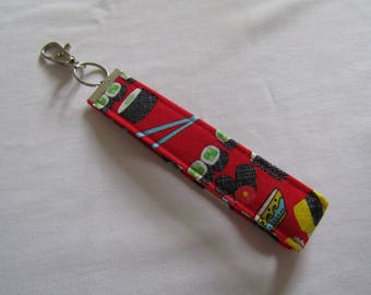 Alternative quirky sushi wristlet key fob