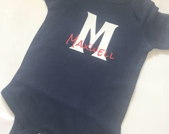 Baby Onesie - Monogram with Name